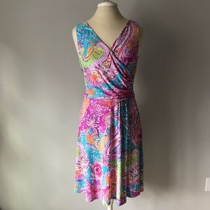 LAUREN RALPH LAUREN PAISLEY DRESS SLEEVELESS s